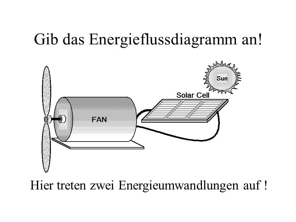 Gib das Energieflussdiagramm an!