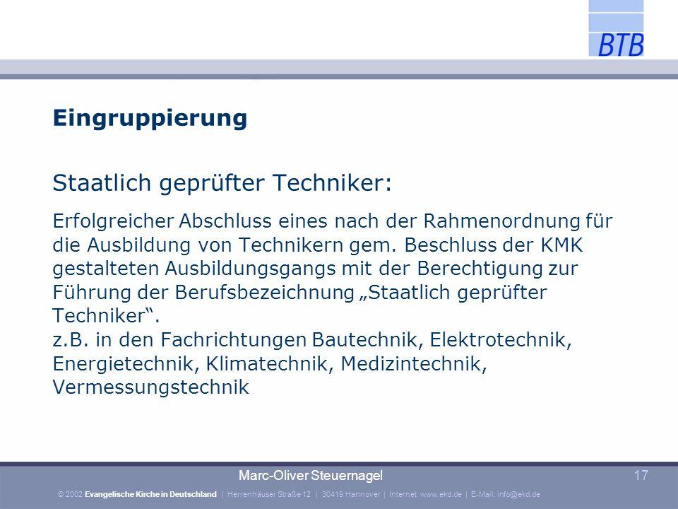Staatlich geprüfter Techniker: