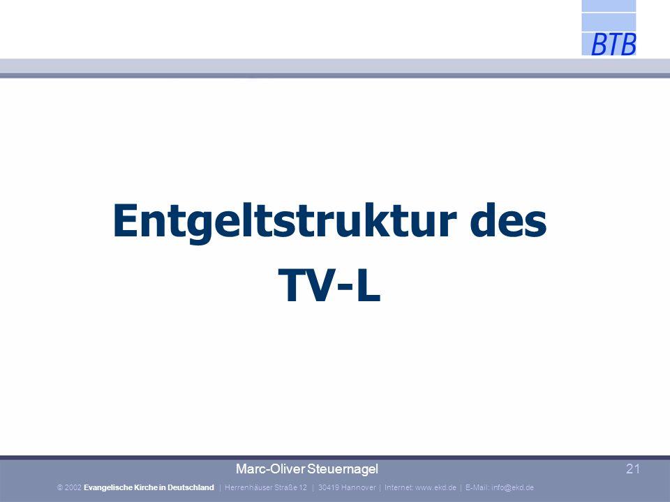 Entgeltstruktur des TV-L