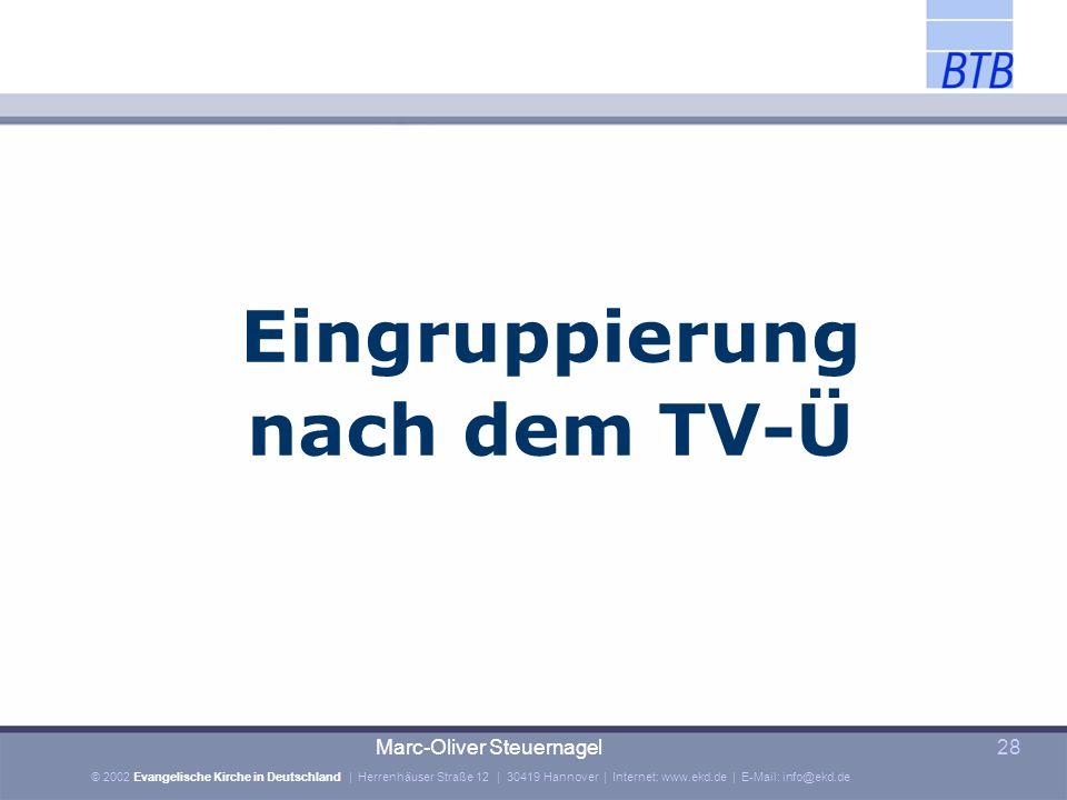 Eingruppierung nach dem TV-Ü
