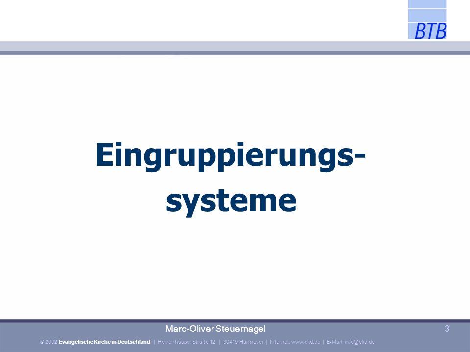 Eingruppierungs- systeme