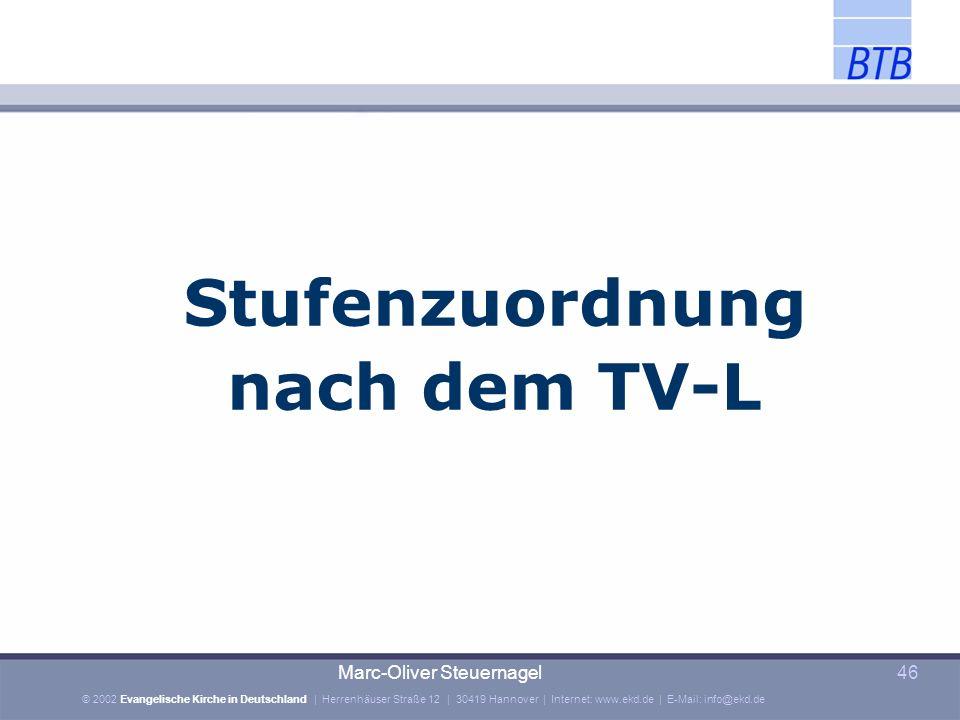 Stufenzuordnung nach dem TV-L