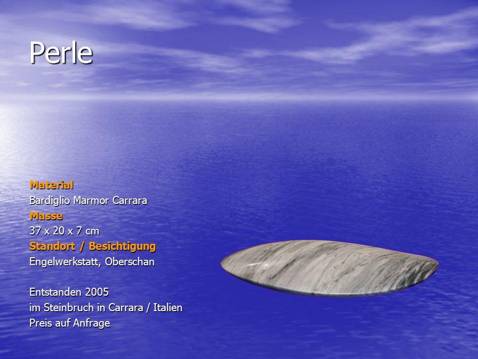 Perle Material Bardiglio Marmor Carrara Masse 37 x 20 x 7 cm