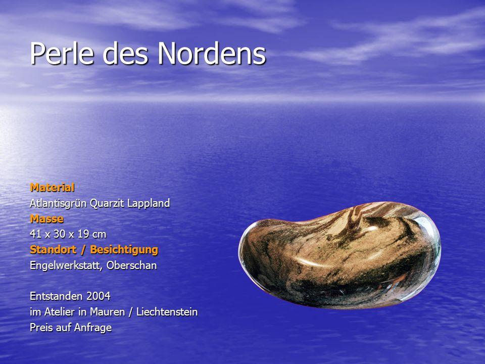 Perle des Nordens Material Atlantisgrün Quarzit Lappland Masse