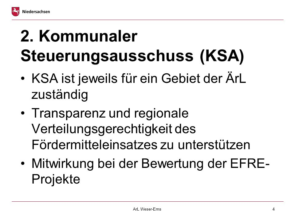 2. Kommunaler Steuerungsausschuss (KSA)