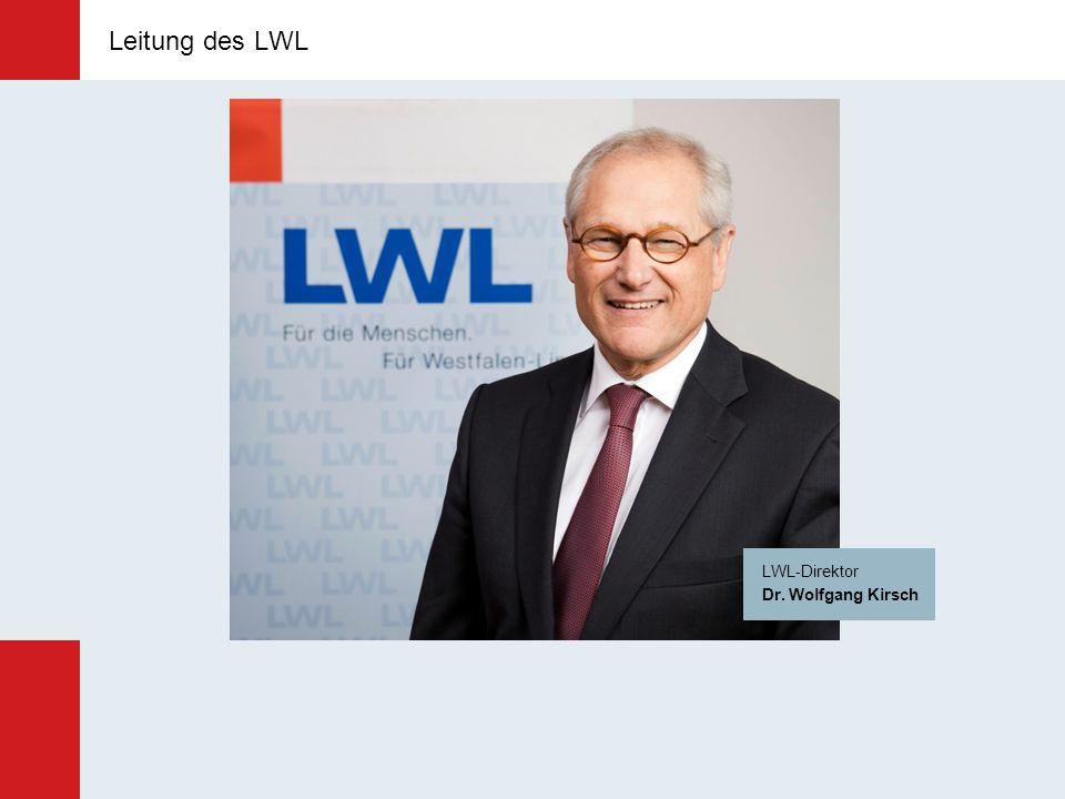Leitung des LWL Leitung des LWL LWL-Direktor Dr. Wolfgang Kirsch
