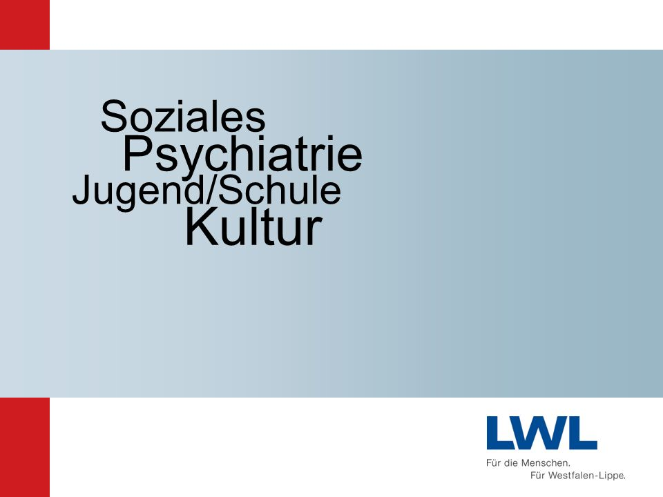 Kultur Psychiatrie Soziales Jugend/Schule Ausblick