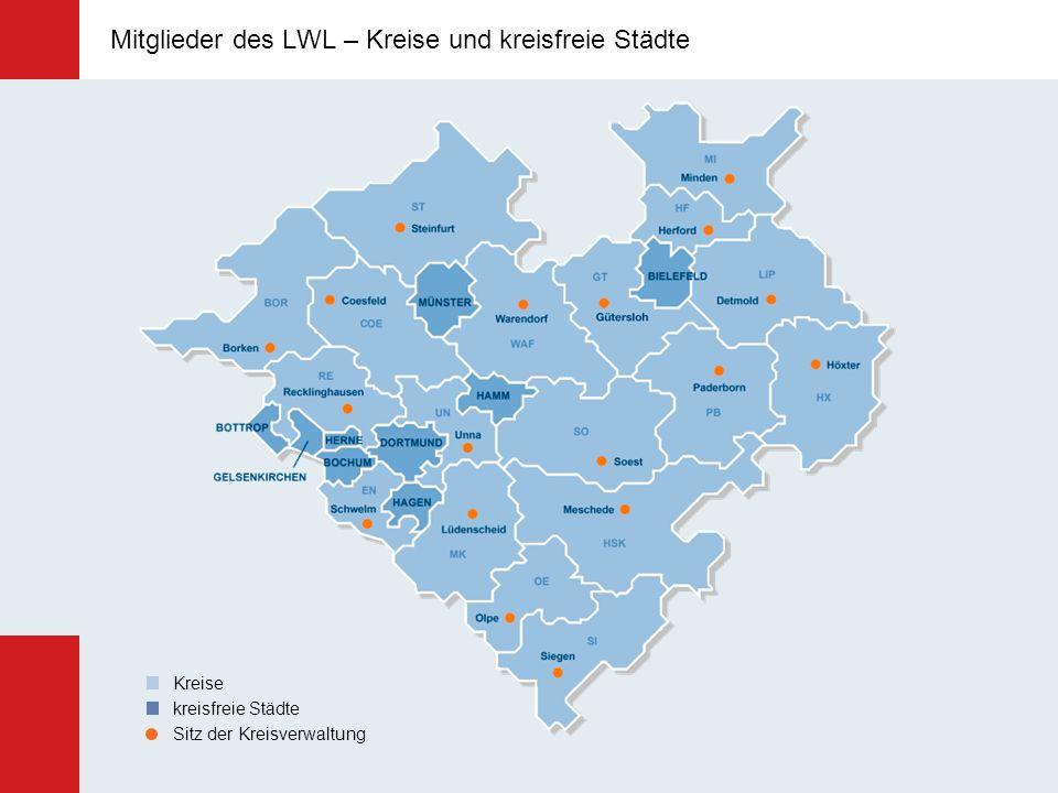 Mitglieder des LWL – Kreise und kreisfreie Städte