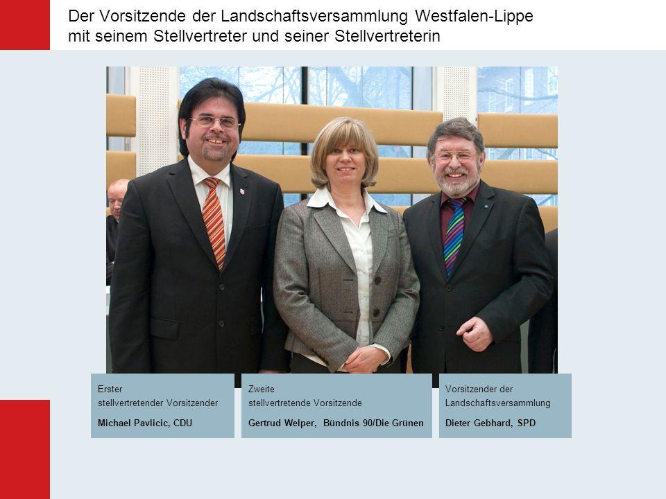 Der Vorsitzende der Landschaftsversammlung Westfalen-Lippe mit seinem Stellvertreter und seiner Stellvertreterin