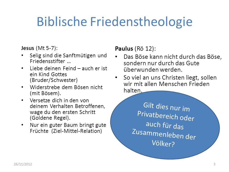 Biblische Friedenstheologie