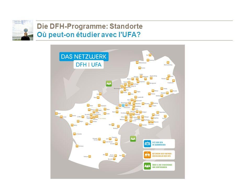 Die DFH-Programme: Standorte Où peut-on étudier avec l UFA