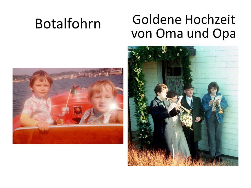 Goldene Hochzeit von Oma und Opa