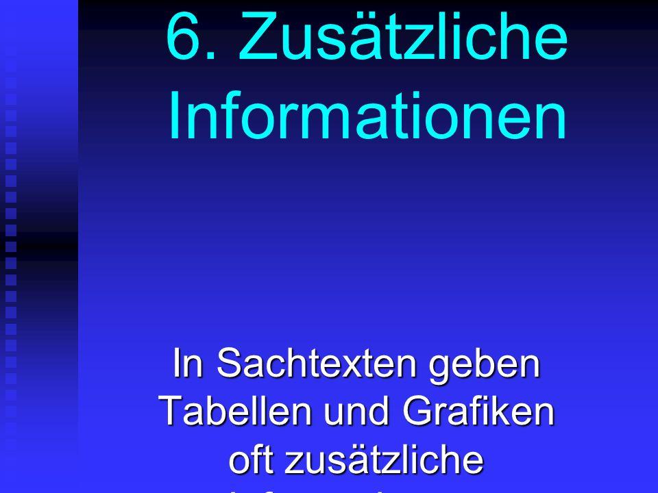 6. Zusätzliche Informationen