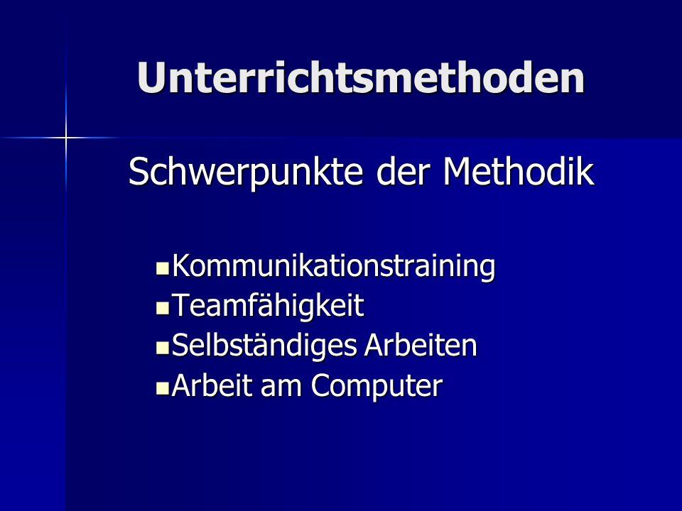 Schwerpunkte der Methodik