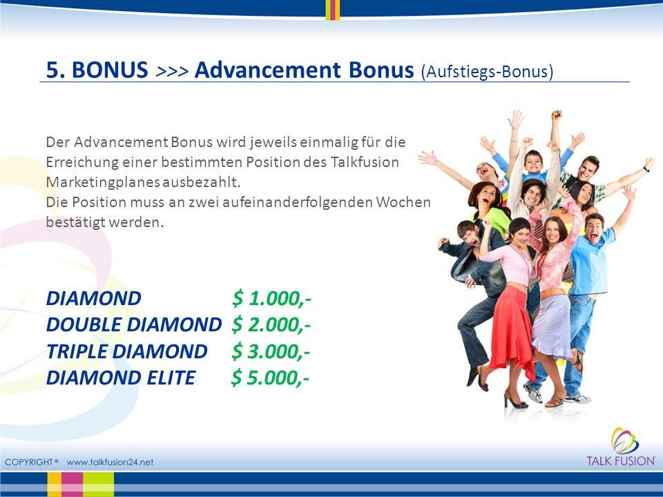 5. BONUS >>> Advancement Bonus (Aufstiegs-Bonus)