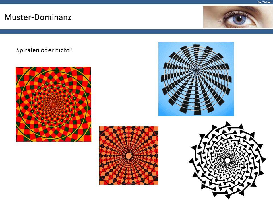 Muster-Dominanz Spiralen oder nicht