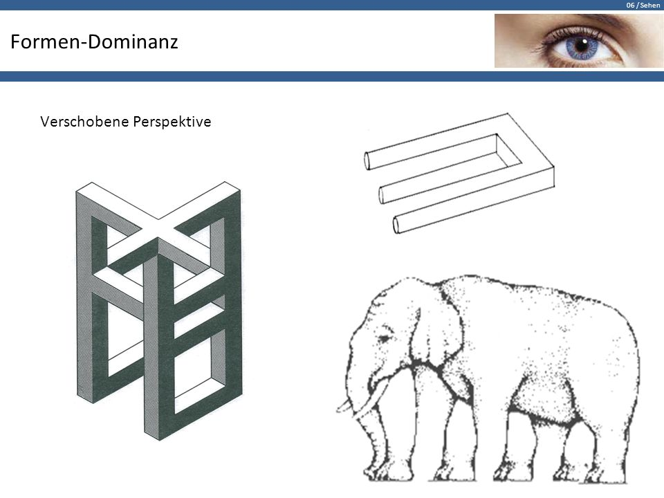 Formen-Dominanz Verschobene Perspektive