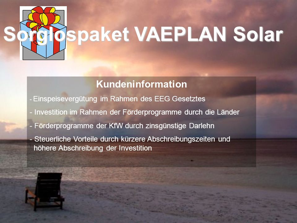 Sorglospaket VAEPLAN Solar