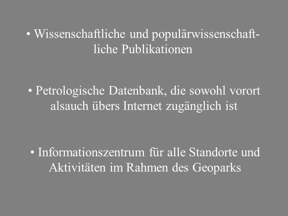 Wissenschaftliche und populärwissenschaft-liche Publikationen
