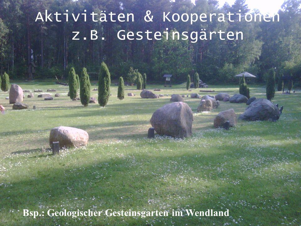 Aktivitäten & Kooperationen z.B. Gesteinsgärten
