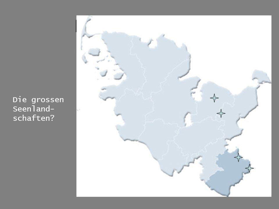 Karte der Region Die grossen Seenland-schaften