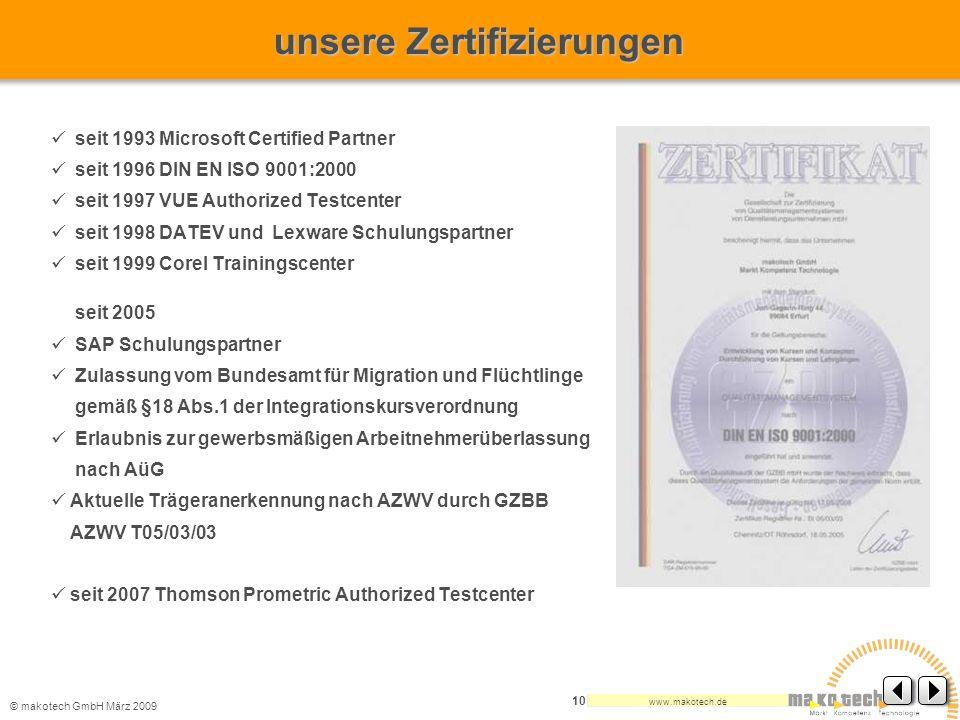 unsere Zertifizierungen