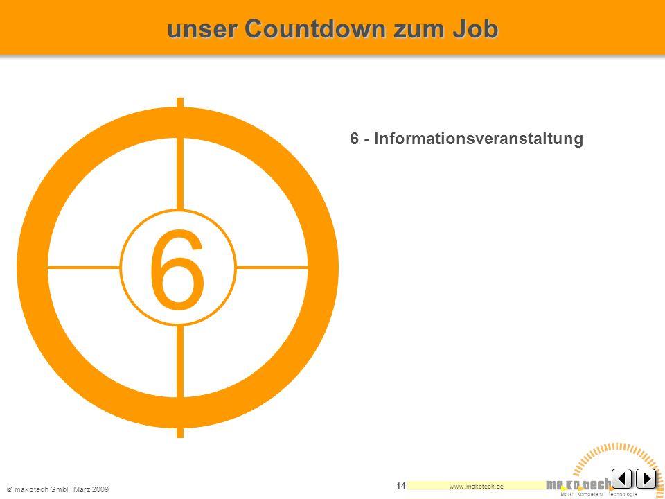 6 unser Countdown zum Job 6 - Informationsveranstaltung