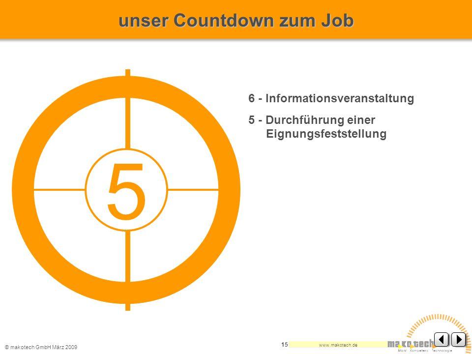 5 unser Countdown zum Job 6 - Informationsveranstaltung