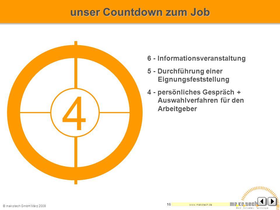 4 unser Countdown zum Job 6 - Informationsveranstaltung