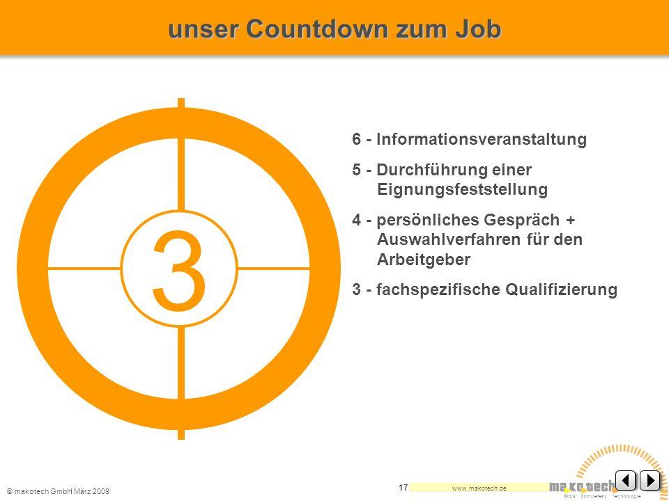 3 unser Countdown zum Job 6 - Informationsveranstaltung