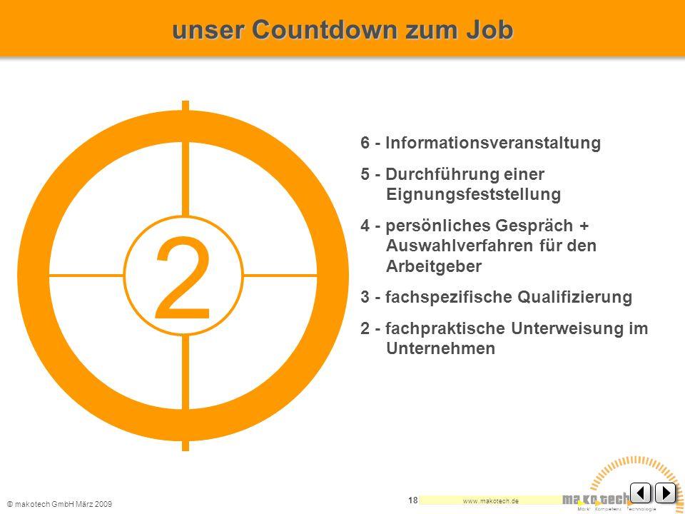 2 unser Countdown zum Job 6 - Informationsveranstaltung