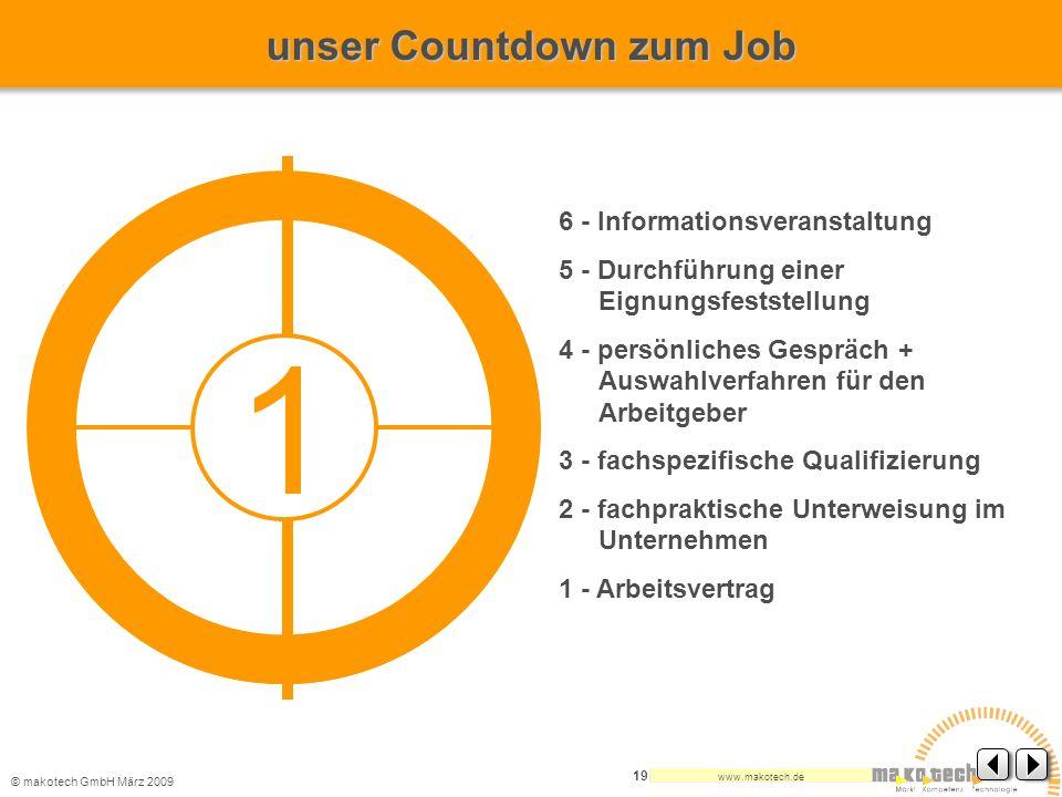 1 unser Countdown zum Job 6 - Informationsveranstaltung