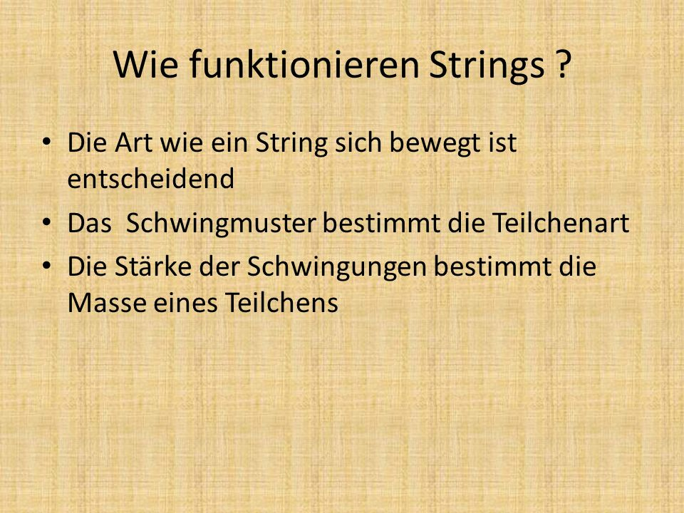 Wie funktionieren Strings
