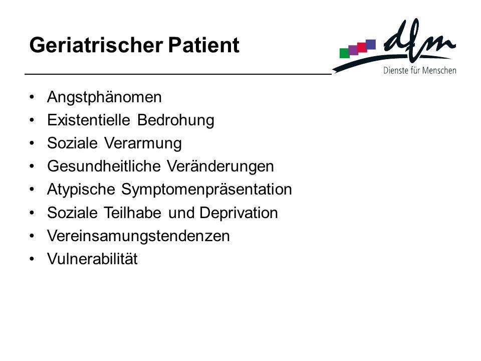 Geriatrischer Patient