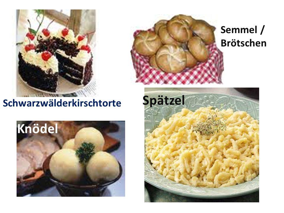 Semmel / Brötschen Spätzel Schwarzwälderkirschtorte Knödel