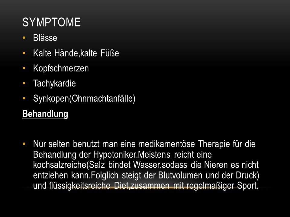 Symptome Blässe Kalte Hände,kalte Füße Kopfschmerzen Tachykardie