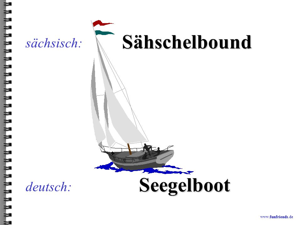 Sähschelbound Seegelboot