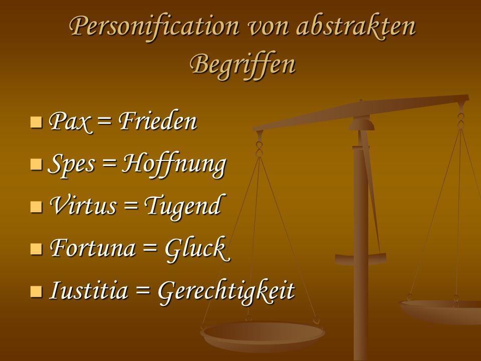 Personification von abstrakten Begriffen