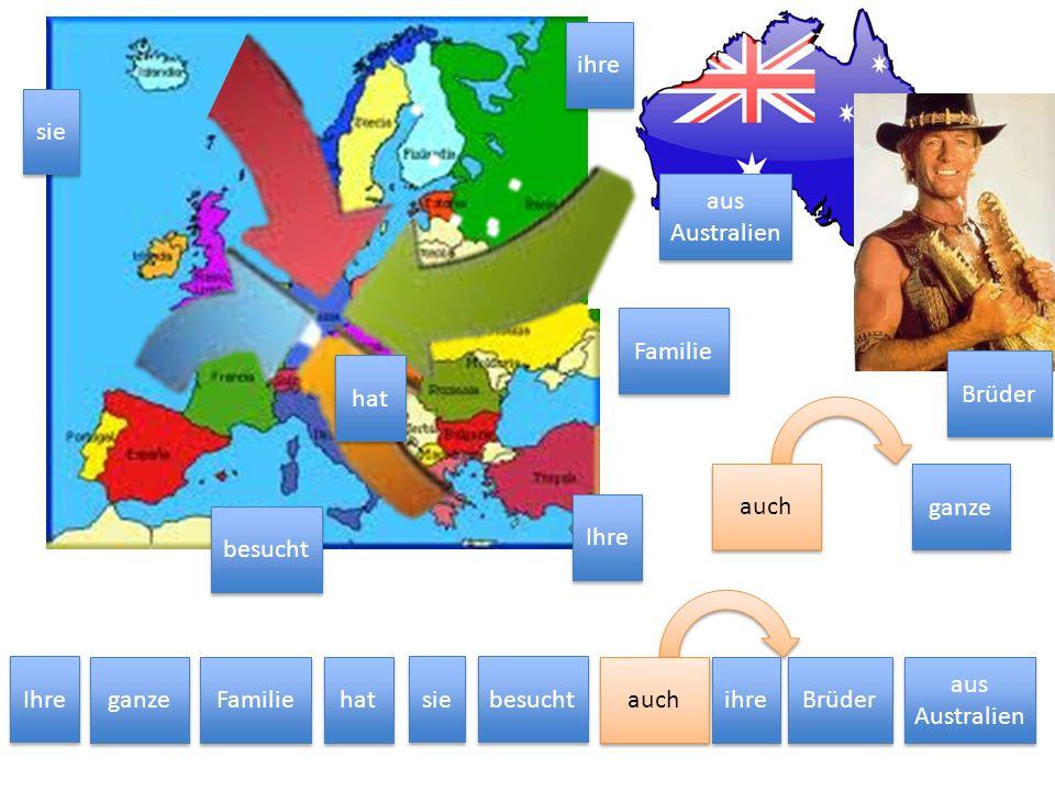 sieIhre. aus Australien. ganze. Familie. besucht. auch. hat. ihre. Brüder. auch. Ihre. ganze. Familie.