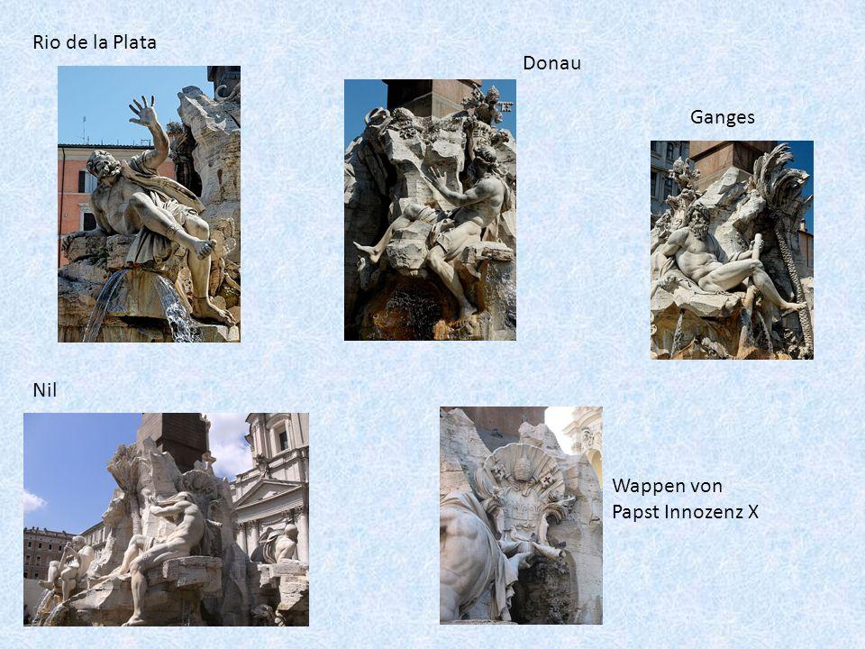 Rio de la Plata Donau Ganges Nil Wappen von Papst Innozenz X
