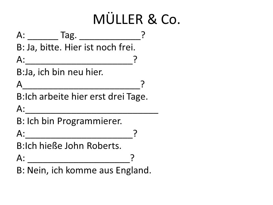 MÜLLER & Co.