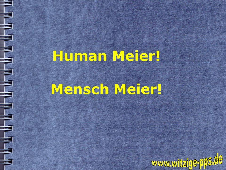 Human Meier! Mensch Meier!