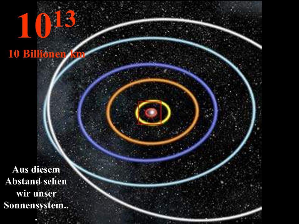 Aus diesem Abstand sehen wir unser Sonnensystem...