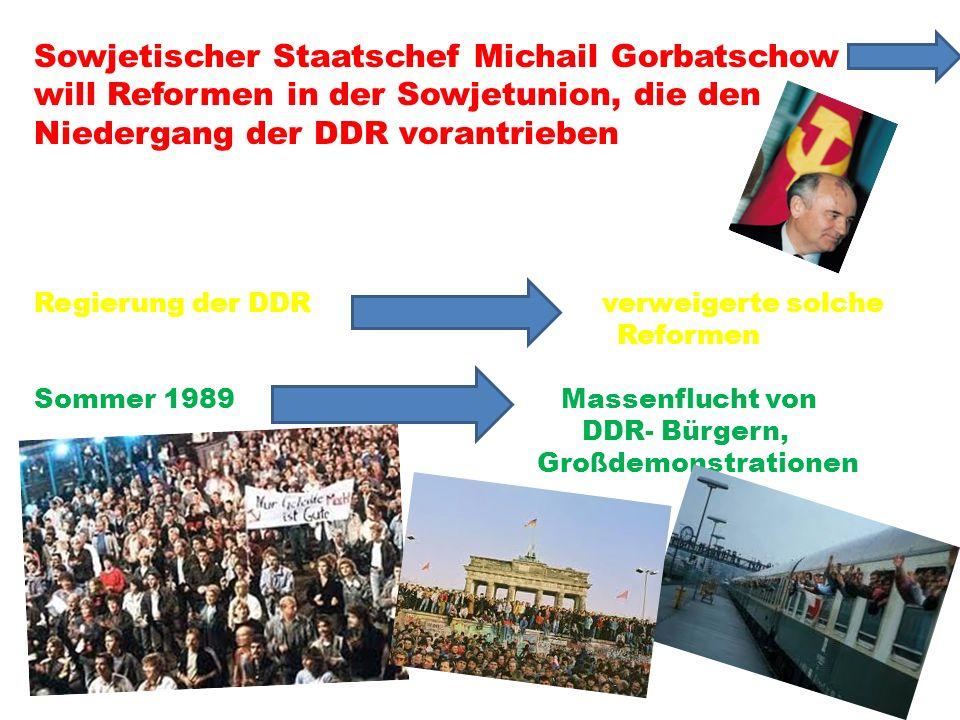 Niedergang der DDR vorantrieben