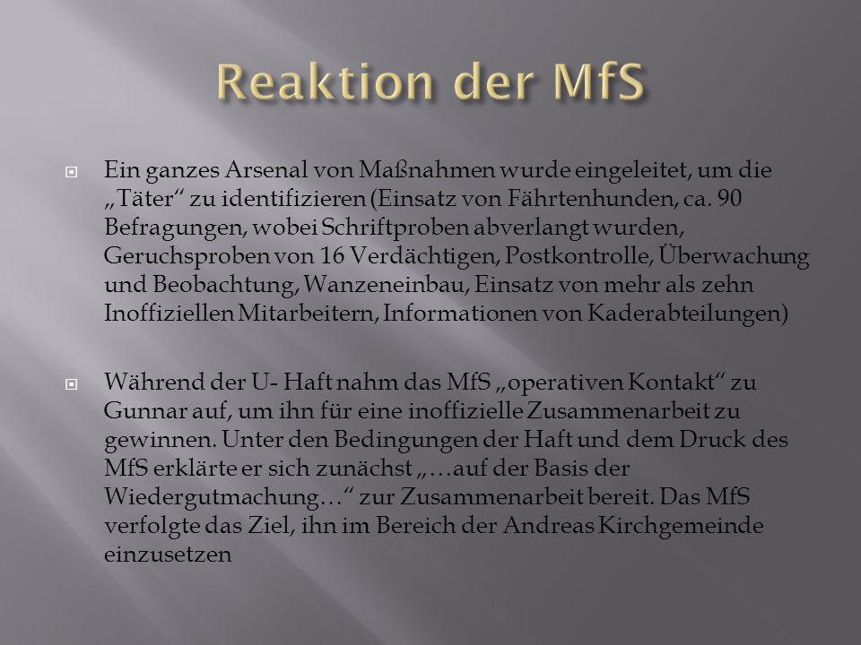 Reaktion der MfS