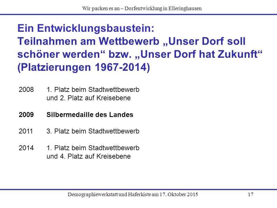 Wir packen es an – Dorfentwicklung in Elleringhausen