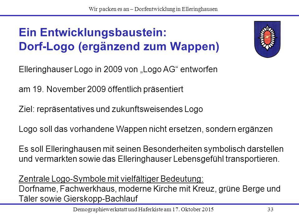 Ein Entwicklungsbaustein: Dorf-Logo (ergänzend zum Wappen)