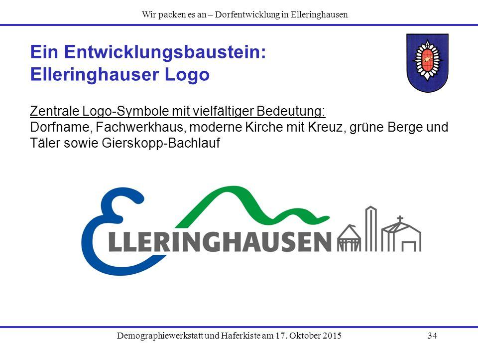 Ein Entwicklungsbaustein: Elleringhauser Logo