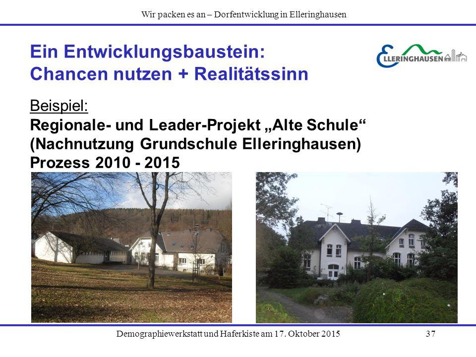 Ein Entwicklungsbaustein: Chancen nutzen + Realitätssinn