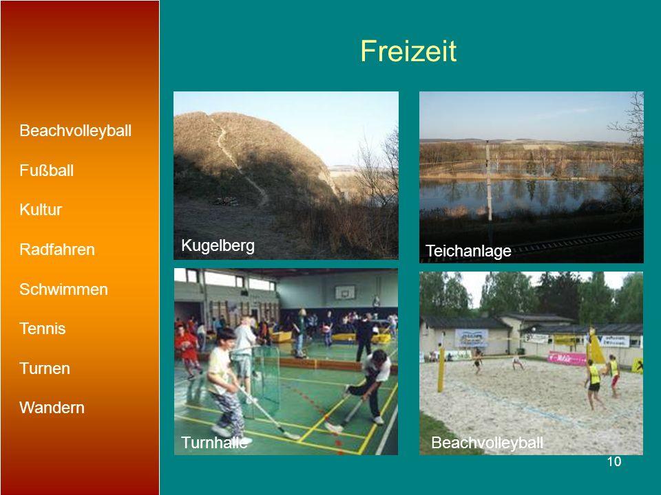 Freizeit Beachvolleyball Fußball Kultur Radfahren Schwimmen Tennis